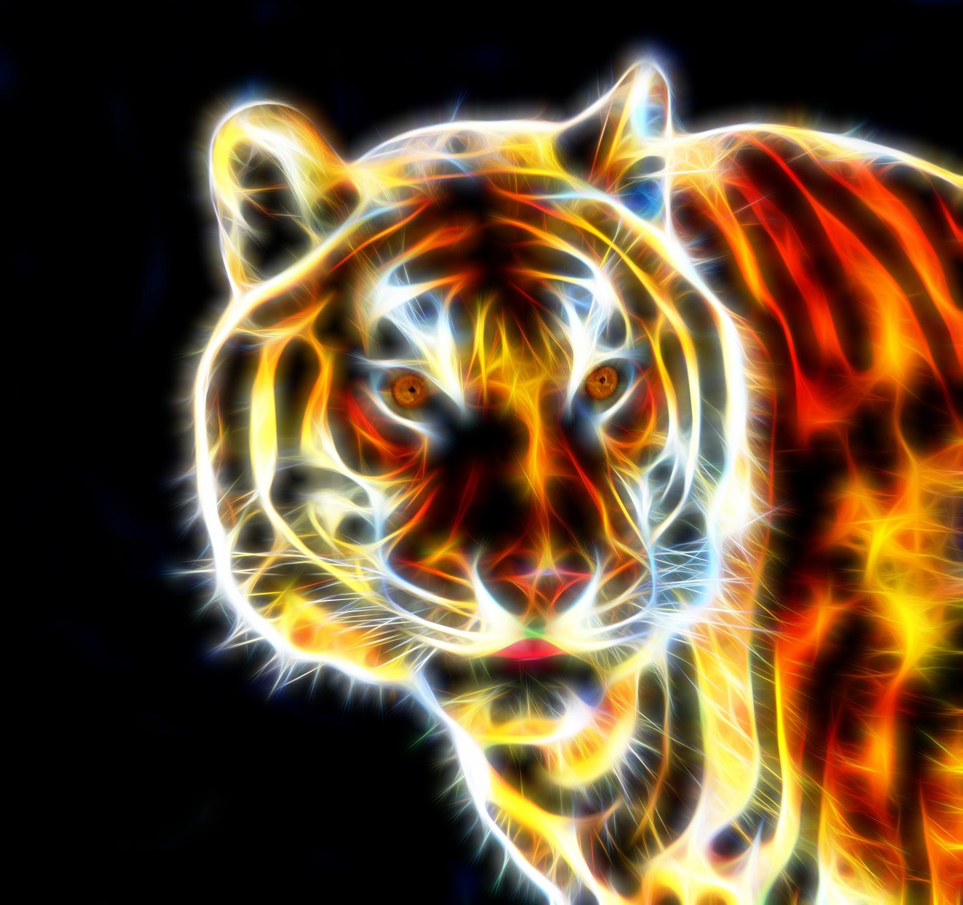 Cool neon tiger art